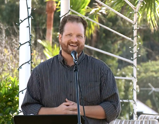 CJ speaking in Malibu, CA as the Techinal Director of the International Innovators of Justice and sponsor of American Justice Alliance, a 501(c)(3) nonprofit